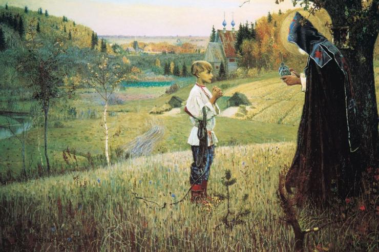Видение отроку Варфоломею. М.В.Нестеров 1890 г.
