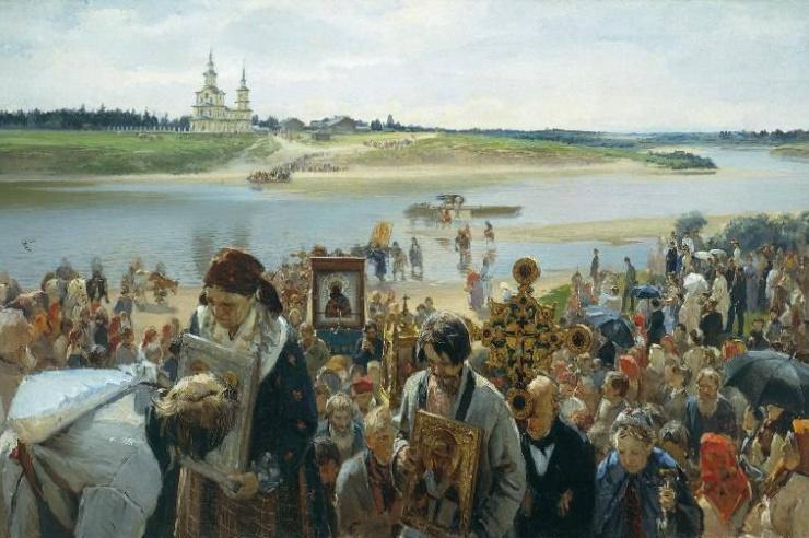 Крестный ход. Прянишников И.М. 1893 г.