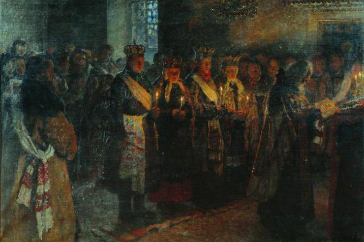 Венчание. Богданов-Вельский Николай Петрович. 1904 г.