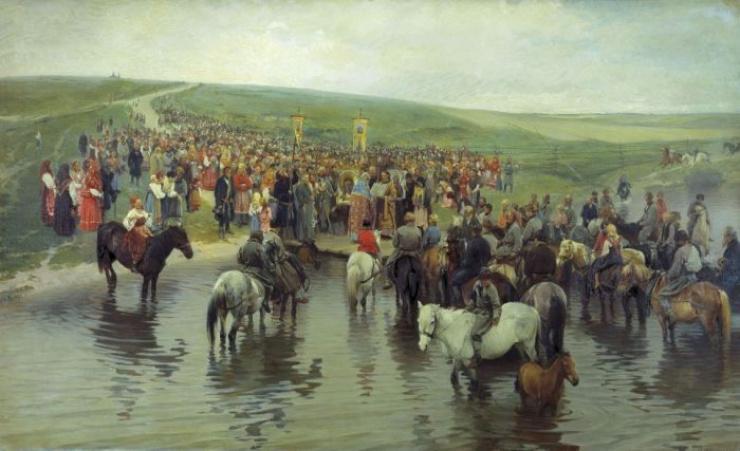 Спасов день на Севере. Прянишников И. М. 1887 г