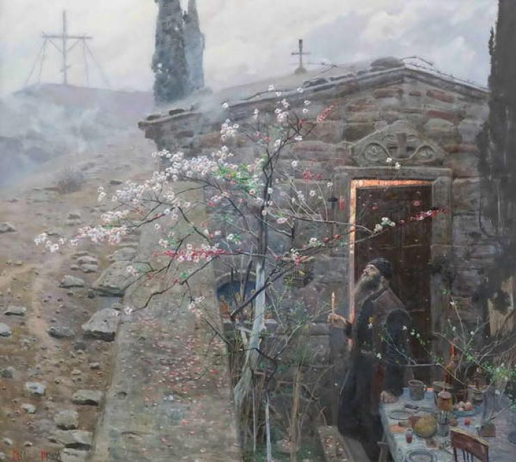 Монах Андрей Ослябя. П.В.Рыженко